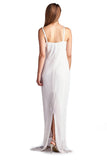 Roberta Pearl Detail Spaghetti Evening Gown - WholesaleClothingDeals - 3