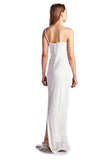 Roberta Pearl Detail Spaghetti Evening Gown - WholesaleClothingDeals - 4
