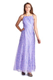 Morgan Floral Flocked Long Evening Gown - WholesaleClothingDeals - 1
