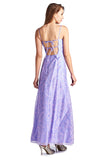 Morgan Floral Flocked Long Evening Gown - WholesaleClothingDeals - 3