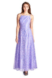 Morgan Floral Flocked Long Evening Gown - WholesaleClothingDeals - 2