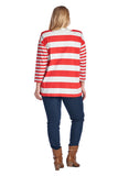 Christine V Plus Long Sleeve V-Neck Top - WholesaleClothingDeals - 4