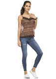 Urban Love Printed Lurex Chiffon with Lace Trim Tank - WholesaleClothingDeals - 29