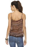 Urban Love Printed Lurex Chiffon with Lace Trim Tank - WholesaleClothingDeals - 28