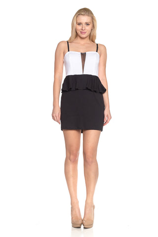 Women's Strapless Peplum Dress