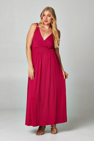Christine V Plus Smocked Wrap Maxi Dress - WholesaleClothingDeals - 1