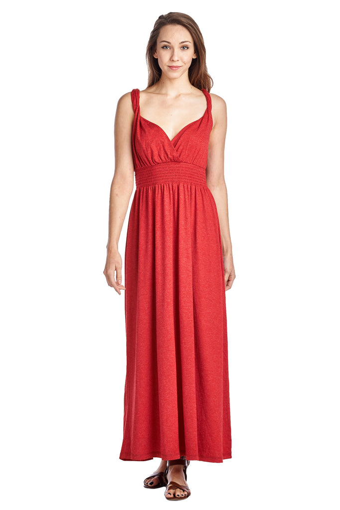 Christine V Smocked Wrap Maxi Dress - WholesaleClothingDeals - 1