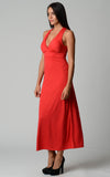 Christine V Halter Maxi Dress with Cross Back Straps - WholesaleClothingDeals - 6