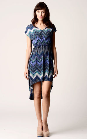 Christine V Printed Hi-Low Dress - WholesaleClothingDeals - 1