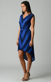 Christine V Chevron Stripe Jersey Hi-Low Dress - WholesaleClothingDeals - 10
