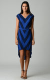 Christine V Chevron Stripe Jersey Hi-Low Dress - WholesaleClothingDeals - 9