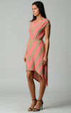 Christine V Chevron Stripe Jersey Hi-Low Dress - WholesaleClothingDeals - 2
