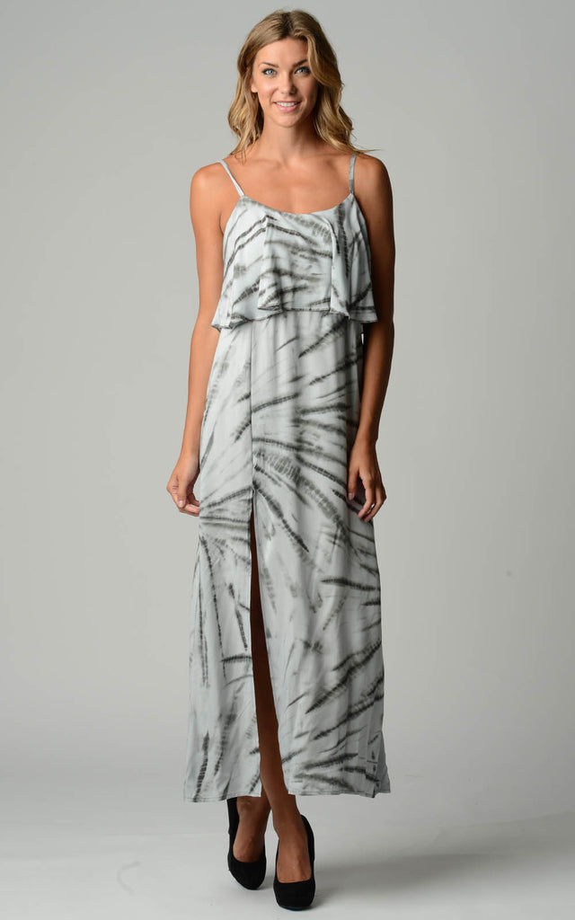 Urban Love Printed Tie Dye Maxi Dress - WholesaleClothingDeals - 1