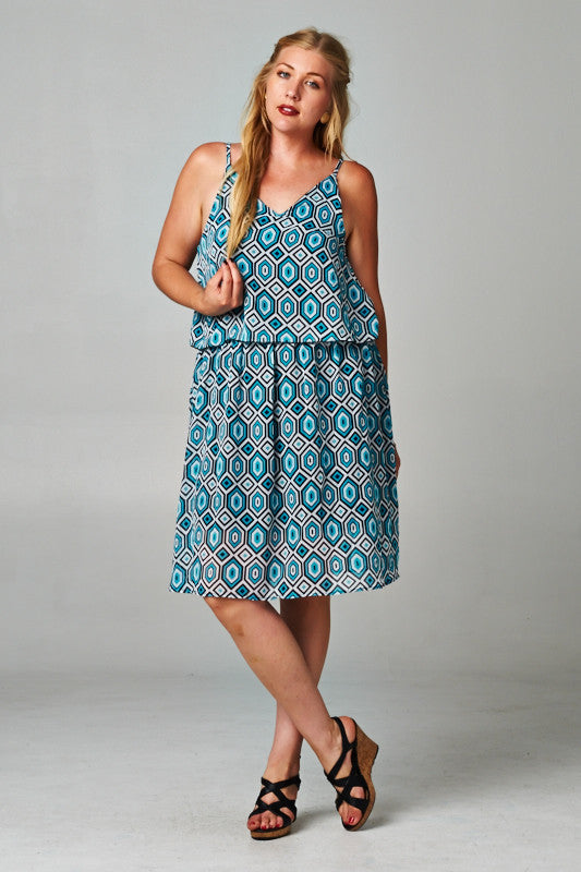 Christine V Printed Chiffon Dress with Elastic Band - WholesaleClothingDeals - 2