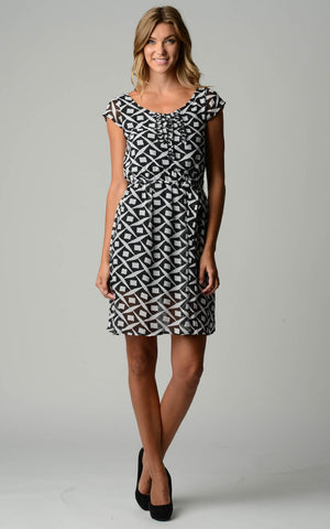 Christine V Printed Chiffon Sheath Dress - WholesaleClothingDeals - 1