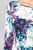 Christine V 3/4 Sleeve Abstract Printed Midi Dress - WholesaleClothingDeals - 15