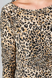 Christine V 3/4 Sleeve Slim Fit Sheath Dress with Leopard Pattern - WholesaleClothingDeals - 5