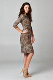 Christine V 3/4 Sleeve Slim Fit Sheath Dress with Leopard Pattern - WholesaleClothingDeals - 7