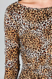 Christine V 3/4 Sleeve Slim Fit Sheath Dress with Leopard Pattern - WholesaleClothingDeals - 10