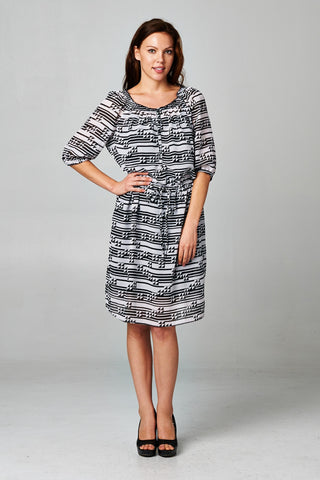 Christine V Missy Printed Chiffon Dress - WholesaleClothingDeals - 1
