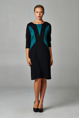 Christine V Ponte Colorblock Sheath Dress - WholesaleClothingDeals - 1