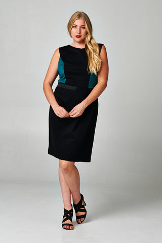 Christine V Plus Sleeveless Ponte Sheath Dress - WholesaleClothingDeals - 1