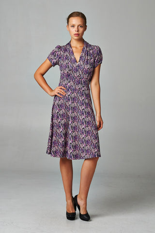 Marcelle Margaux Brush Stripe Cutout Dress - WholesaleClothingDeals - 1