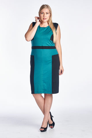 Christine V Plus Sleeveless Sheath Dress - WholesaleClothingDeals - 1