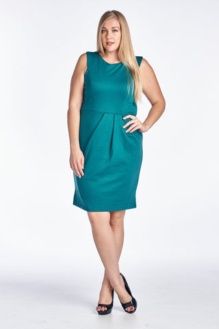 Christine V Plus Solid Ponte Sheath Dress - WholesaleClothingDeals - 1