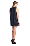 Urban Love Sleeveless Short Dress with Lace Detail - WholesaleClothingDeals - 2