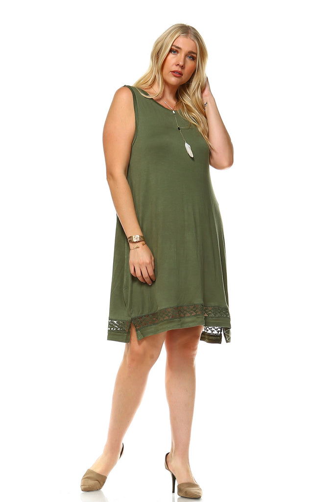 Women's Plus Size Sleeveless Tank Dress