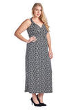 Marcelle Margaux Plus Printed ITY Surplice Maxi Dress - WholesaleClothingDeals - 2