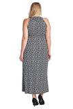 Marcelle Margaux Plus Printed ITY Surplice Maxi Dress - WholesaleClothingDeals - 4