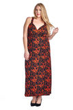 Marcelle Margaux Plus Printed ITY Surplice Maxi Dress - WholesaleClothingDeals - 21