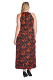 Marcelle Margaux Plus Printed ITY Surplice Maxi Dress - WholesaleClothingDeals - 24