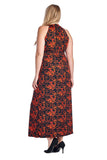 Marcelle Margaux Plus Printed ITY Surplice Maxi Dress - WholesaleClothingDeals - 23