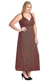 Marcelle Margaux Plus Printed ITY Surplice Maxi Dress - WholesaleClothingDeals - 12