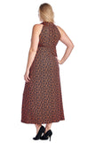 Marcelle Margaux Plus Printed ITY Surplice Maxi Dress - WholesaleClothingDeals - 13
