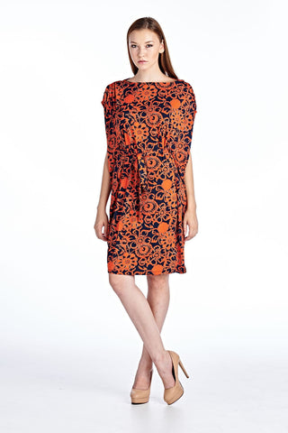 Marcelle Margaux Knee-length Pattern Midi Dress - WholesaleClothingDeals - 1