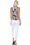 Marcelle Margaux Split Back V-Neck Sleeveless Printed Top - WholesaleClothingDeals - 4