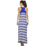Christine V Variegated Stripe Rayon Spandex Maxi Tank Dress - WholesaleClothingDeals - 8