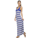 Christine V Variegated Stripe Rayon Spandex Maxi Tank Dress - WholesaleClothingDeals - 7