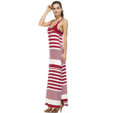 Christine V Variegated Stripe Rayon Spandex Maxi Tank Dress - WholesaleClothingDeals - 3