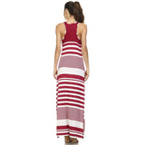 Christine V Variegated Stripe Rayon Spandex Maxi Tank Dress - WholesaleClothingDeals - 4