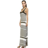 Christine V Variegated Stripe Rayon Spandex Maxi Tank Dress - WholesaleClothingDeals - 11