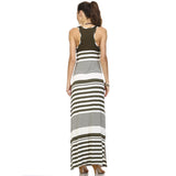 Christine V Variegated Stripe Rayon Spandex Maxi Tank Dress - WholesaleClothingDeals - 12