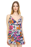 Urban Love Floral V-Neck Open Back Romper - WholesaleClothingDeals - 2