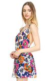 Urban Love Floral V-Neck Open Back Romper - WholesaleClothingDeals - 3