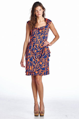 Marcelle Margaux Abstract Printed Drape Dress - WholesaleClothingDeals - 1