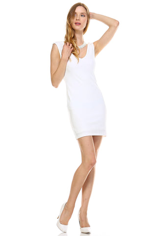 Urban Love Deep V-neck Slim Fit Sleeveless Dress - WholesaleClothingDeals - 1